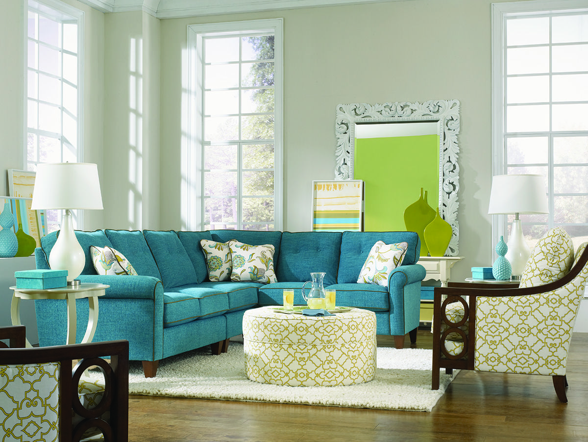 LaZBoy Laurel Sectional, Keagan Chairs and Roundabout