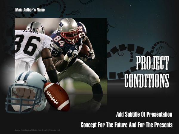 American Football PowerPoint Template by Dynamic Template - football powerpoint template