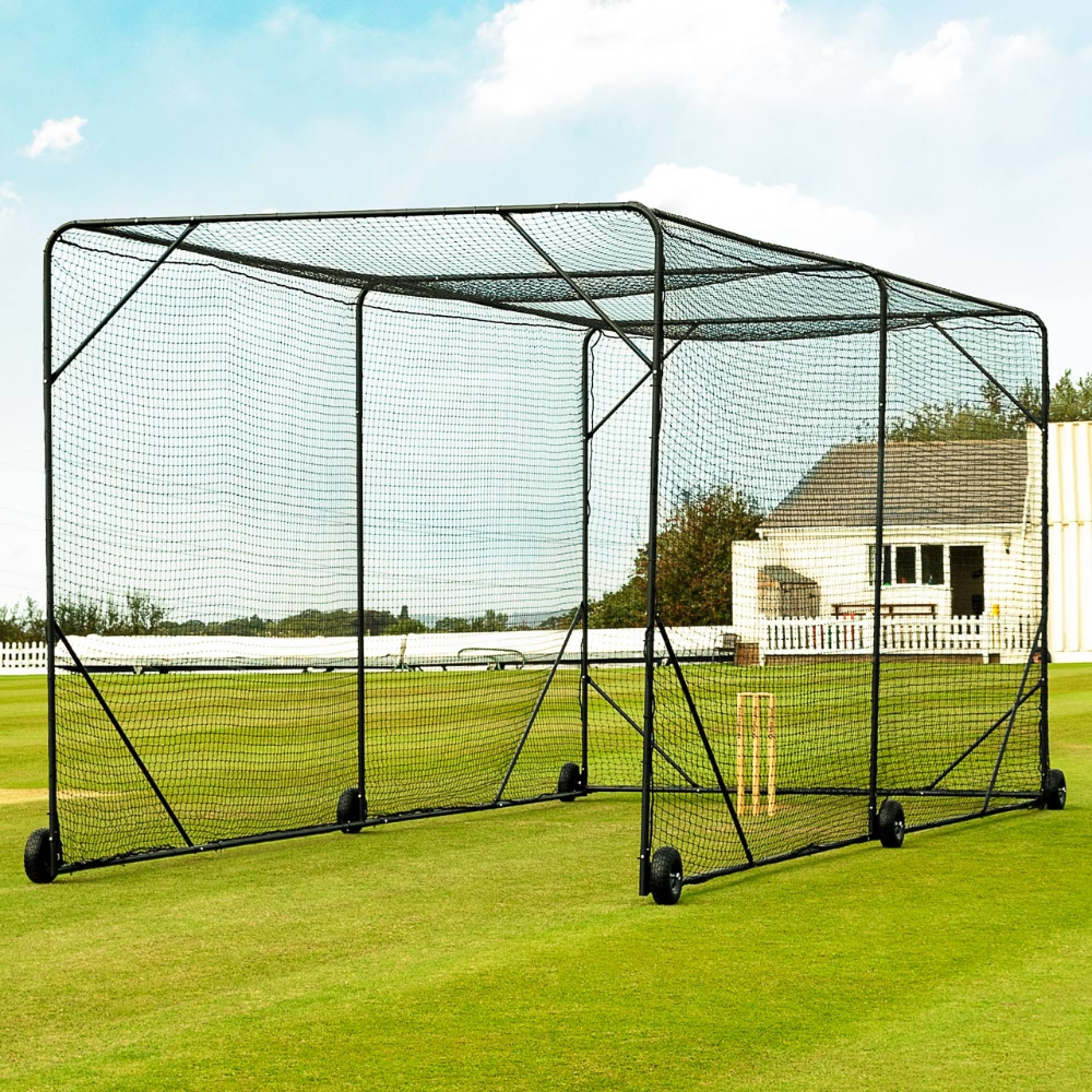 Fortress Mobile Cricket Cage In 2020 Batting Cage Backyard Batting Cages Indoor Batting Cage
