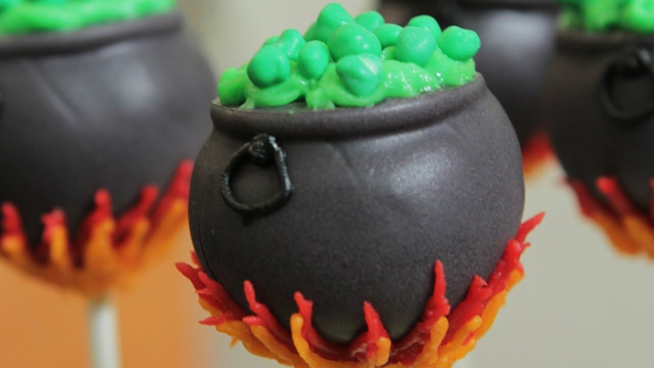 Nerdy Nummies Cauldron Cake Pops