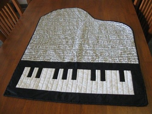 Piano Shaped Quilt For Panda This Is Not A How To No