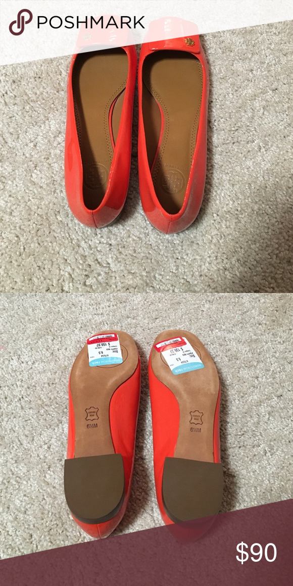 Tory Burch flats Have never been worn, bought at Nordstrom rack and I don'