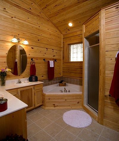 Superb Better Bathrooms, Dream Bathrooms, Log Cabin Bathrooms, Tile Bathrooms,  Large Bathrooms, Logs, Bathroom Ideas, Bathroom Layout, Bathroom Pictures