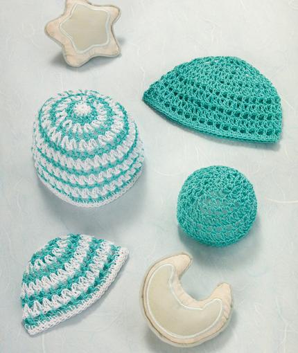 Precious Preemie Hats In Aunt Lydias Classic Crochet Thread Size 10