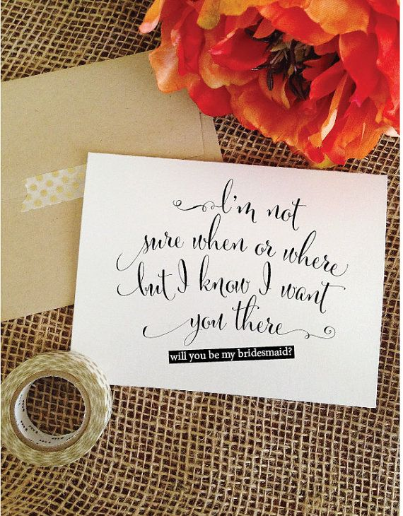 A Cute Way To Ask Your Wedding Party Select From Will You Be My Bridesmaid Card