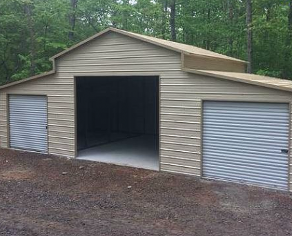 508 Barn 42 Wx21 Lx11 H Elite Metal Structures Metal Garage Buildings Metal Buildings Metal Garages