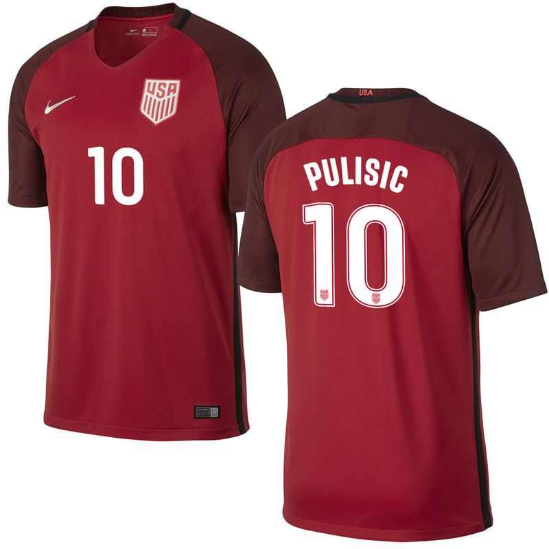 85160af891d Christian Pulisic US Soccer Nike 2017 Third Stadium Replica Jersey - Red