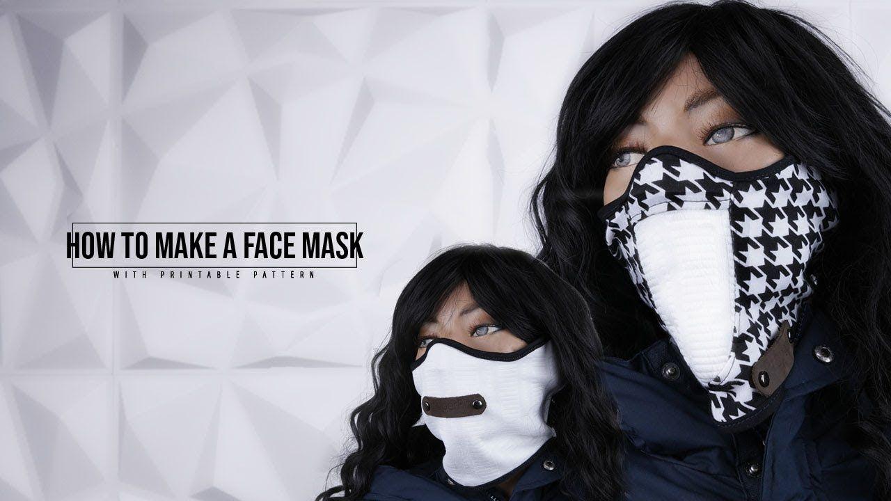 Diy Face Mask Youtube In 2020 Diy Fashion No Sew Diy Face