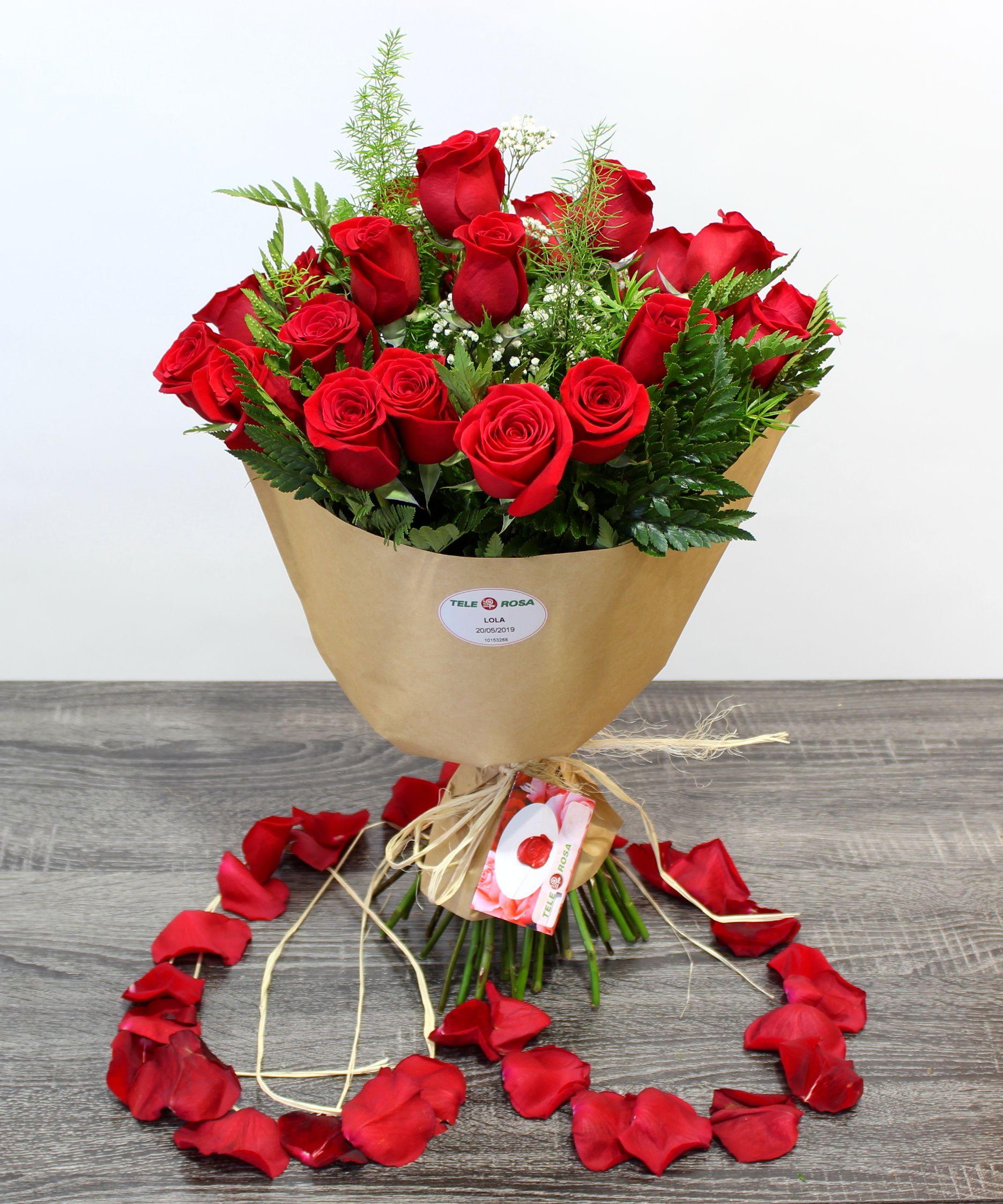 Ramo De 24 Rosas Rosas Ramos De Flores Flores Amarillas