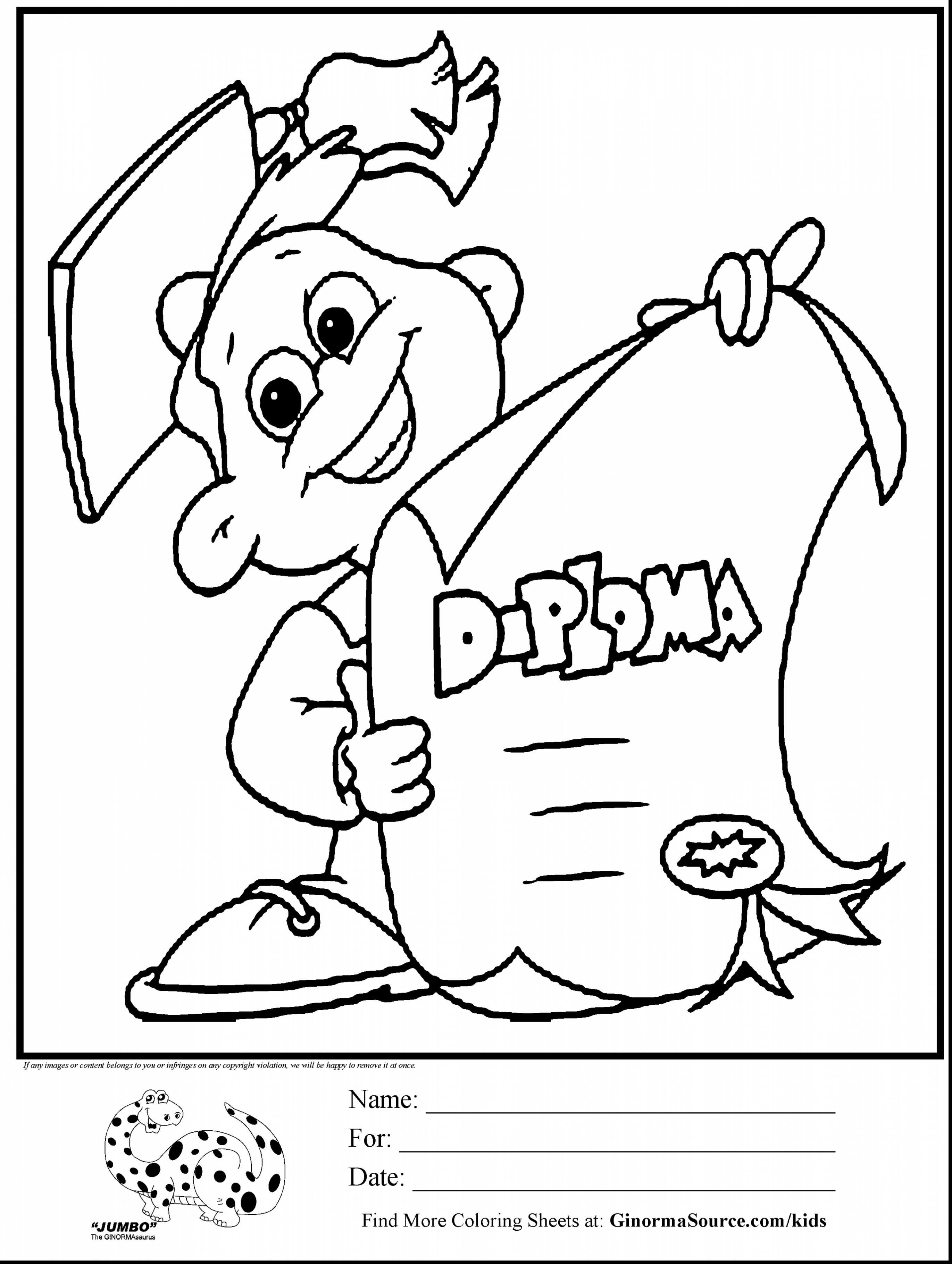 Coloring College Graduation Coloring Page For Preschool