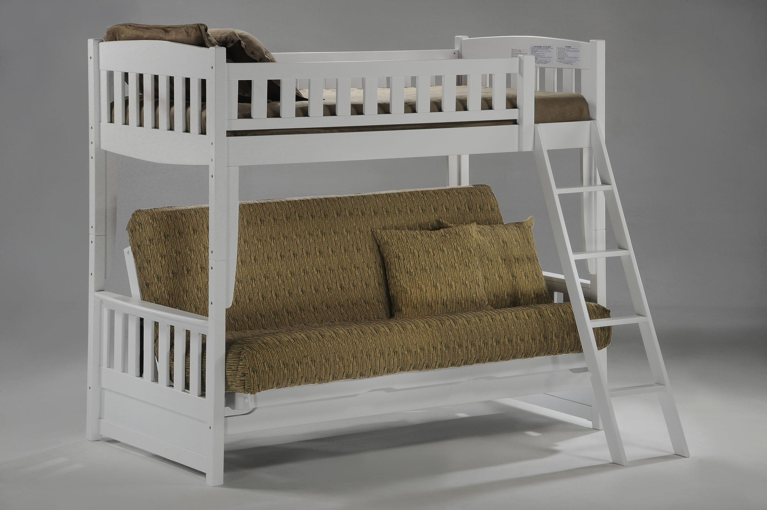 Kids Love Our Futon Bunk Bed Solid Wood Beautifully Finished With Twin On Top And A Full Size