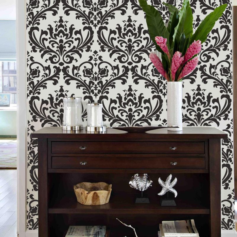 Damask Couture Old Vintage Victorian Allover Damask Designer Pattern Wall Stencil Home Decor Sold By Stencil Boss Shop More Products From Stencil Boss On