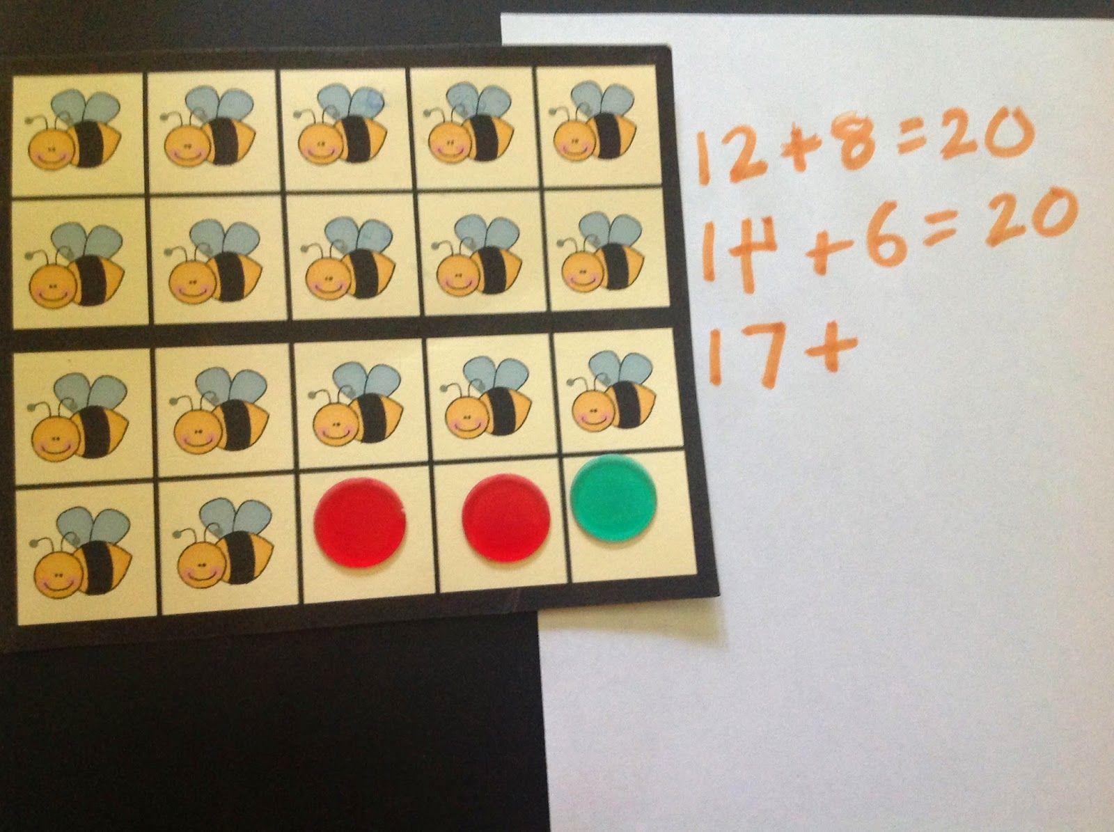 The Elementary Math Maniac: Bug Themed 20 Frames