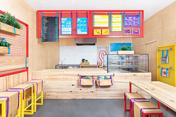 Bright Colorful Restaurant With Branding To Match Small