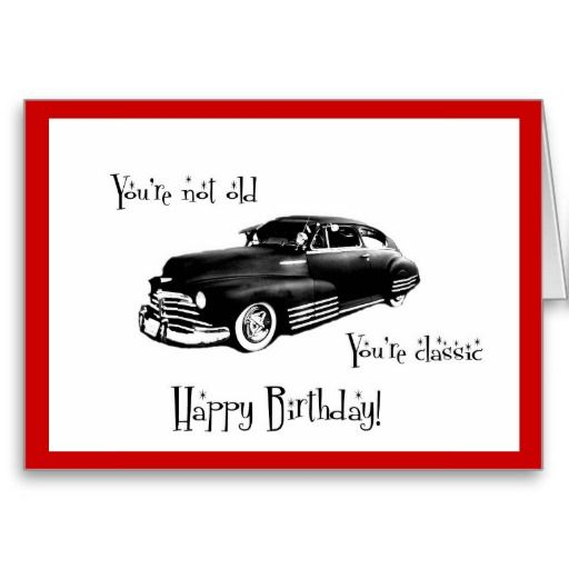 Classic Car Birthday Card Ideas Parties Cards