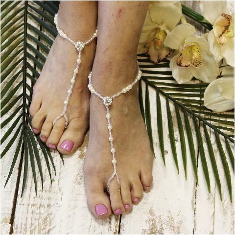 ec771ca2ce918a ELEGANCE wedding barefoot sandals - Catherine Cole Studio - 2 ...