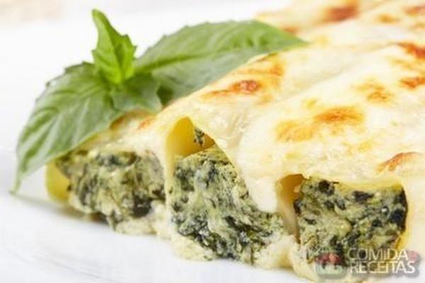 Receita de Canelone de espinafre com ricota em Massas, veja essa e outras receitas aqui!