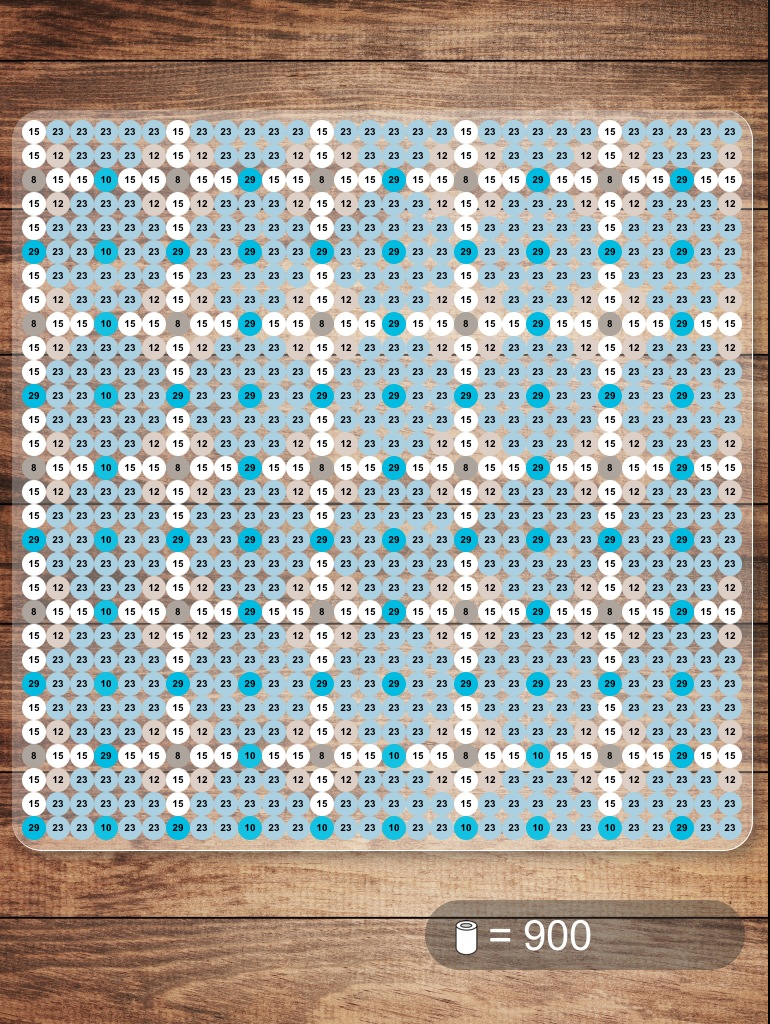Bead pattern made with NABBI beads iPad app  | {(Perler