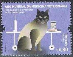 Postage stamp - Portugal, 2011 (International Year of Veterinary Medicine)