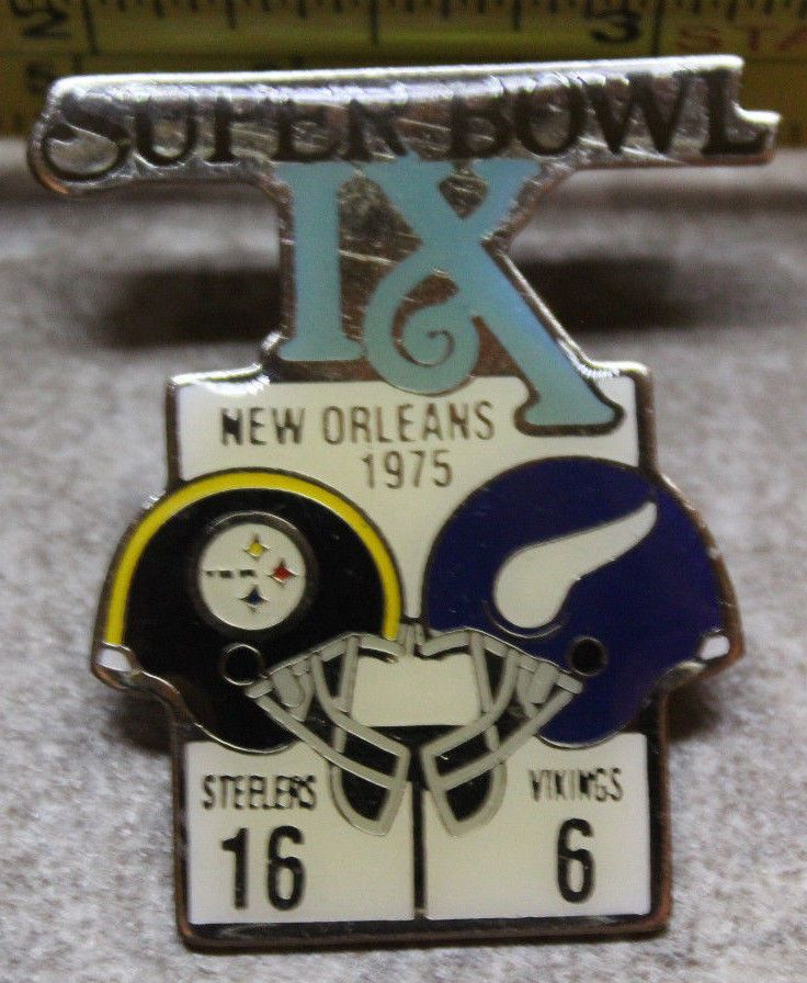 1975 Superbowl IX Pittsburgh Steelers Minnesota Vikings NFL Collectible Pin  #PittsburghSteelersvsMinnesotaVikings