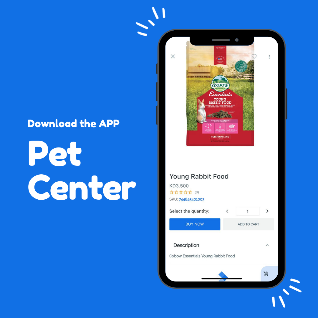 Young Rabbit Food طعام الأرانب الصغيرة 3 5 Kwd Pet Center بت سنتر Petcenterapp Com Download The App Now And Star Young Rabbit Rabbit Food Pets