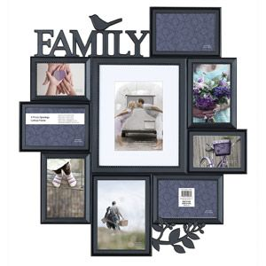 family expression 9 opening collage frame black walmart com