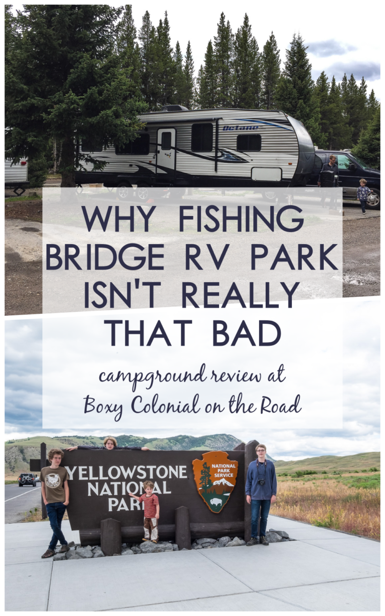 Fishing Bridge Rv Park Isn T So Scary A Campground Review Boxy Colonial On The Road Campground Reviews Rv Parks National Park Vacation