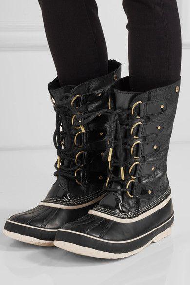 Sorel - Joan of Arctic waterproof shearling-trimmed leather boots. Winter  ...