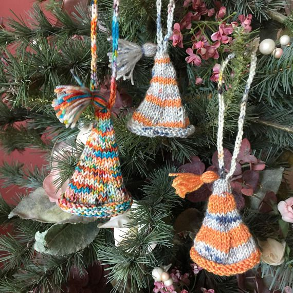 Knitted ornaments, hat ornaments, Xmas ornaments, Christmas