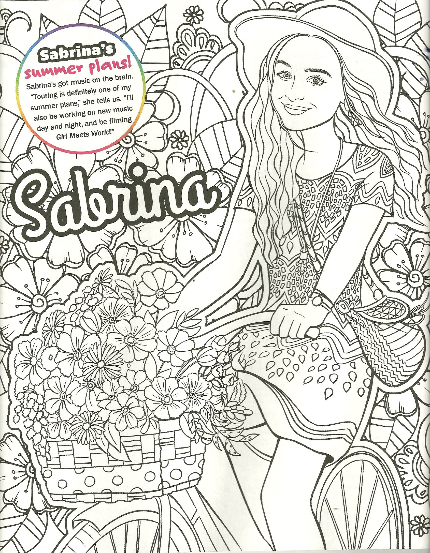 sabrina carpenter coloring page my coloring pages pinterest