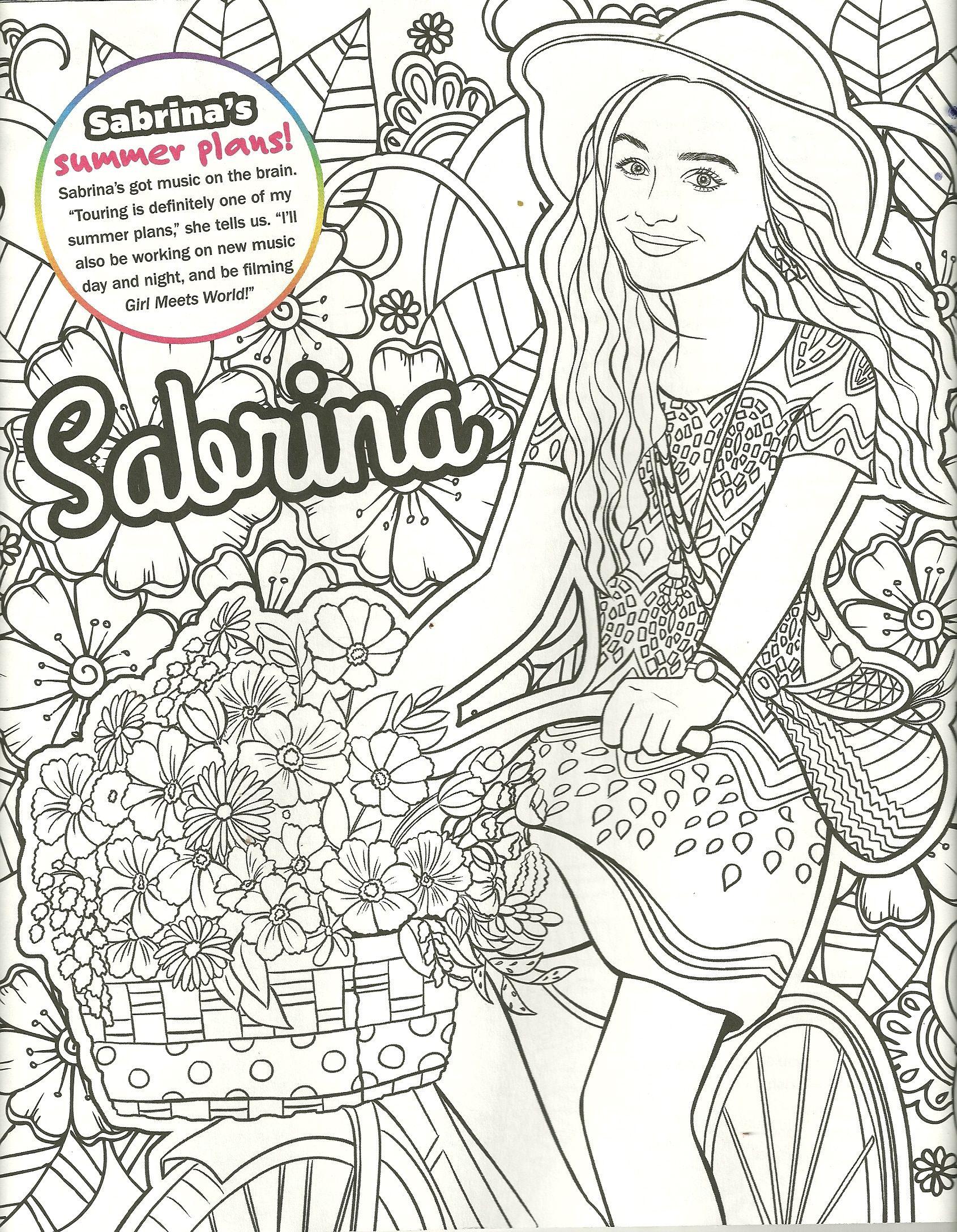 Sabrina carpenter coloring page  Sabrina carpenter, Coloring