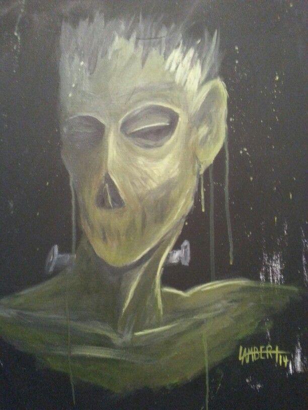 """Frank"" acrylic on canvas by Shaun Lambert"