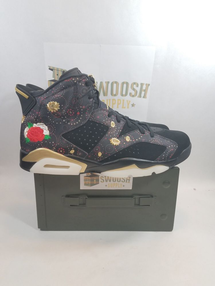 first rate 23f54 1250c Nike Air Jordan 6 Retro CNY Size 16 Black Gold Chinese New Year AA2492 021  Nike AthleticSneakers