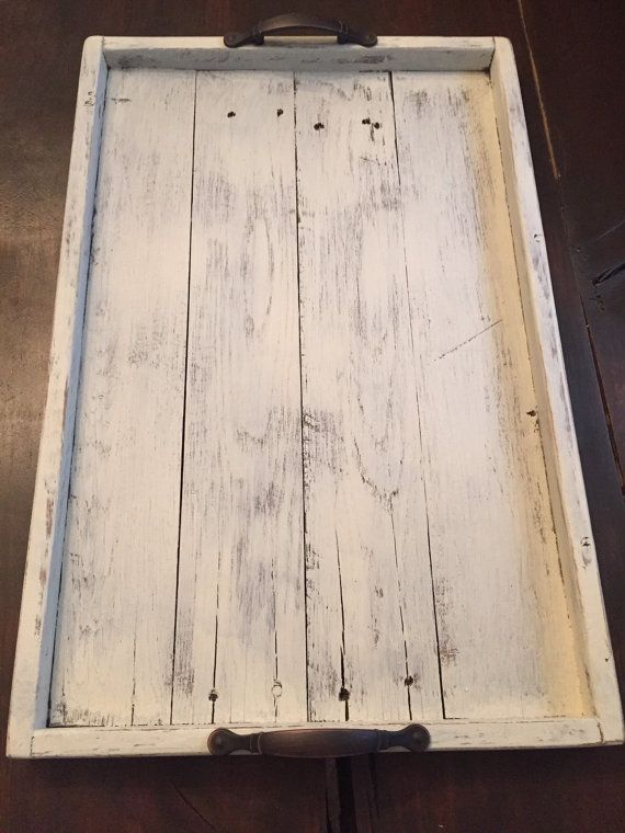 Shabby Chic Decorative Tray Serving Tray Wooden Serving Tray Wood Tray Rustic Serving Tray Wood Projects That Sell Wooden Serving Trays Woodworking Projects That Sell