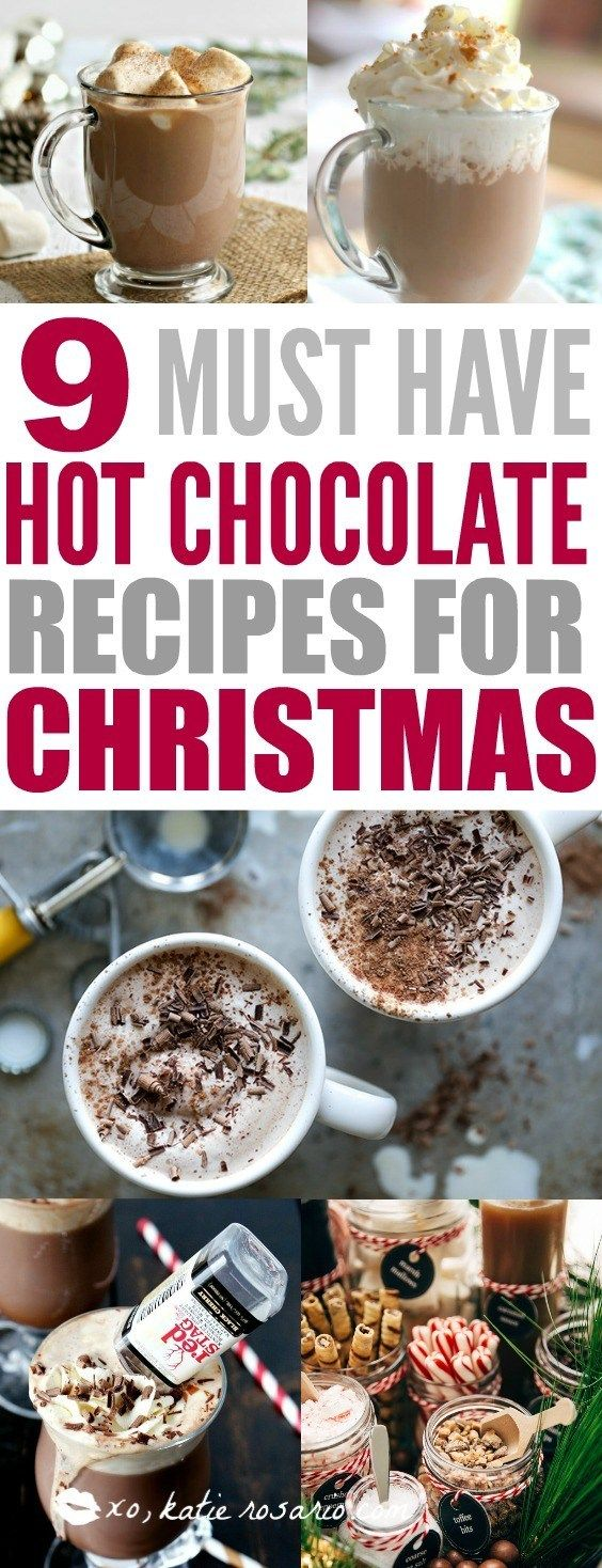 9 Delicious Hot Chocolate Recipes for Easy Entertaining #hotchocolaterecipe