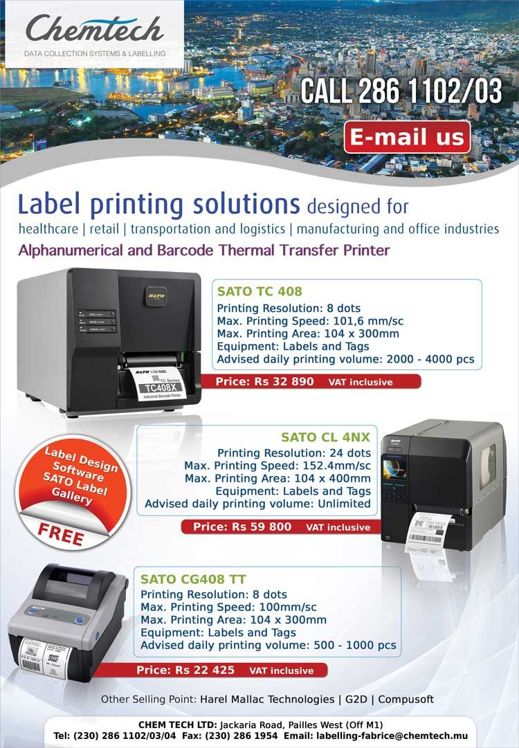 Chem Tech Ltd - Data Collection Systems and Labelling  Tel