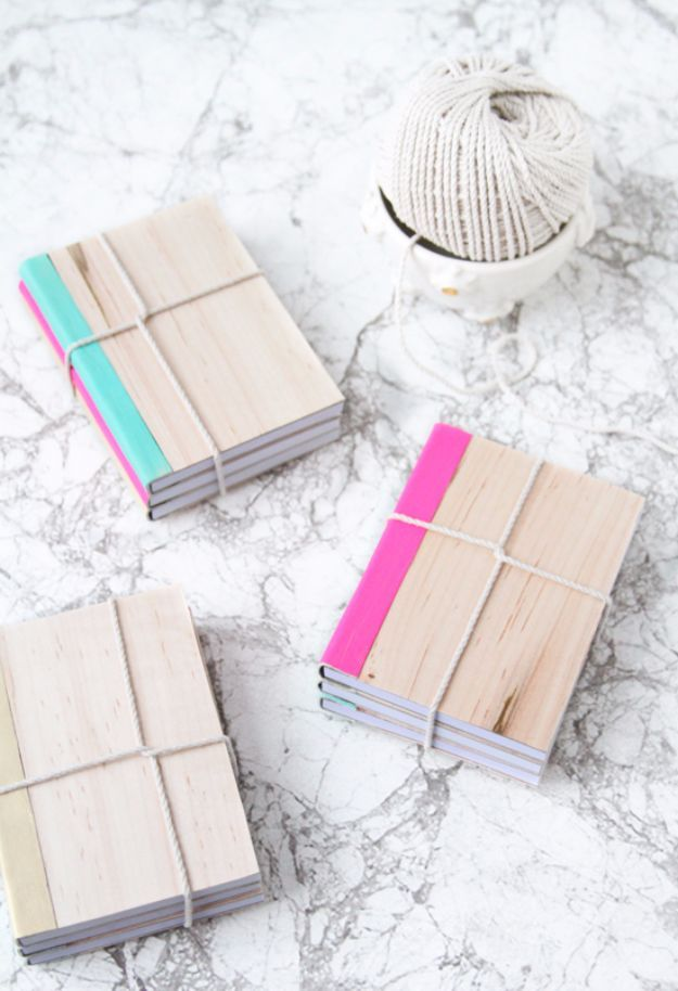 50 best back to school diy ideas diy school supplies diy school diy school supplies diy leather and wood covered notebook easy crafts and do it yourself ideas for back to school pencils notebooks backpacks and solutioingenieria Choice Image