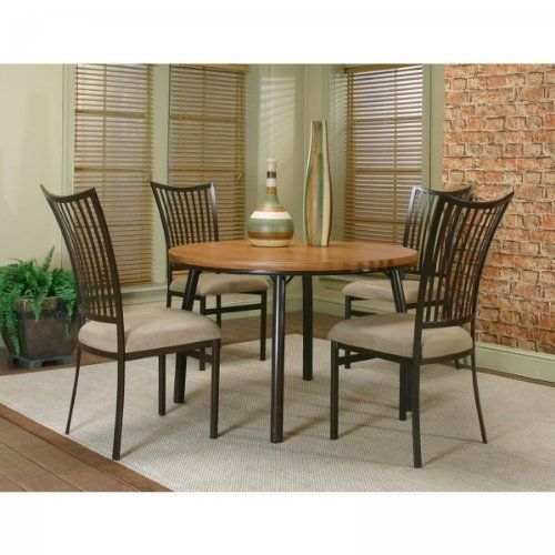 Versatile Kitchen Table And Chair Sets For Your Home: Bellevue 5pc Round Dining Set (Cherry / Java) (See