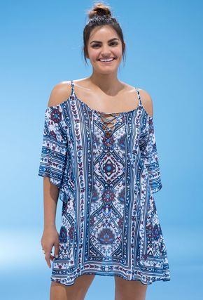 swimsuitsforall Becca Inspired Slit Shoulder Tunic
