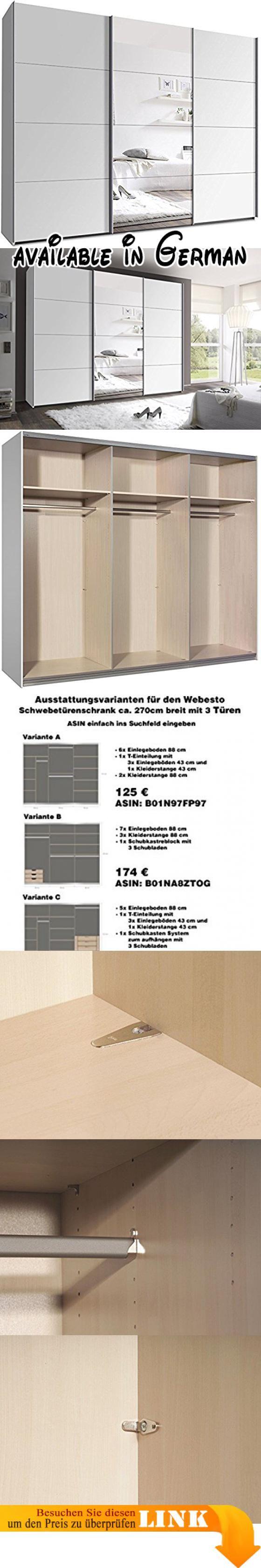 Inspirierend Kleiderschrank 270 Cm Breit Sammlung Von B01fmtg7v4 : Mit Schwebetüren B/h/t: X 220