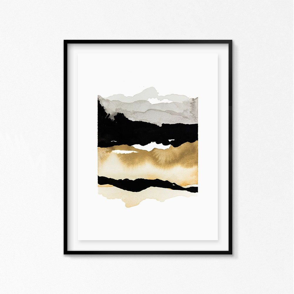 Nature inspired art print inspired by mountains and valleys with a neutral color palette, perfect for the modern home. Shop this print and more at kimknoll.com © Kim Knoll #artprint #print #artwork #modernart #walldecor #wallart #homedecor #interiors #interiordesign #art #modernhome #mountains #valley #abstractart