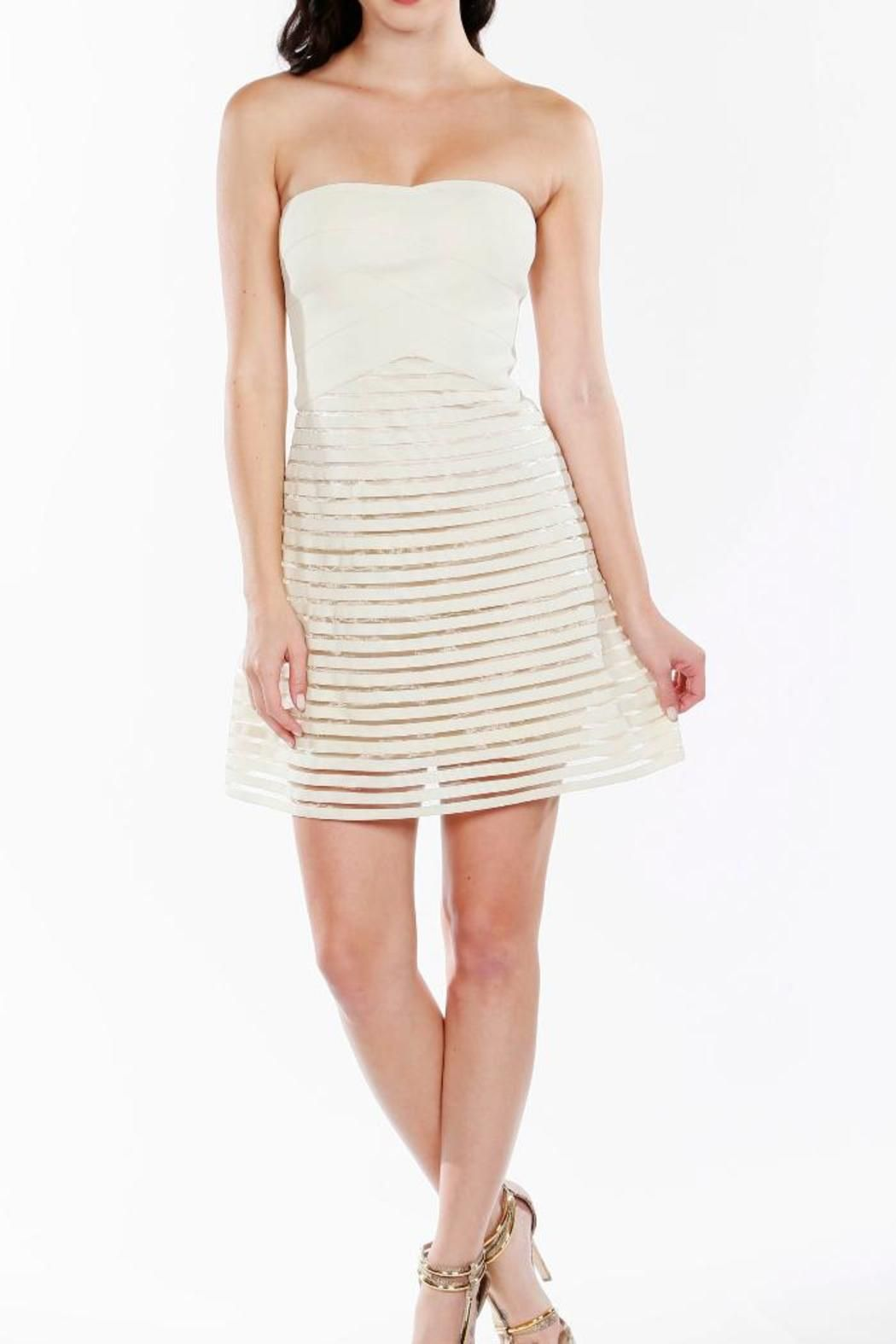 Wow Couture Strapless Fit Flare Dress Tiques