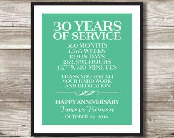 25 Year Work Anniversary Print Gift Digital Print Customizable