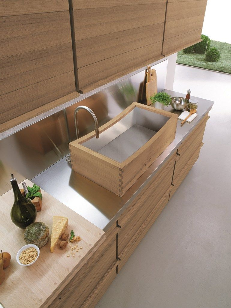 Phenomenal Timber Vessel Sink Linear Fitted Kitchen Only One By Riva Home Remodeling Inspirations Genioncuboardxyz
