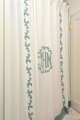 Leontine Linens Monogrammed Shower Curtain