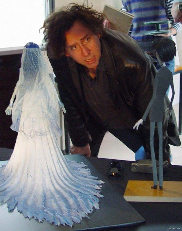 991b75147a6e Tim Burton sul  set  de La sposa cadavere