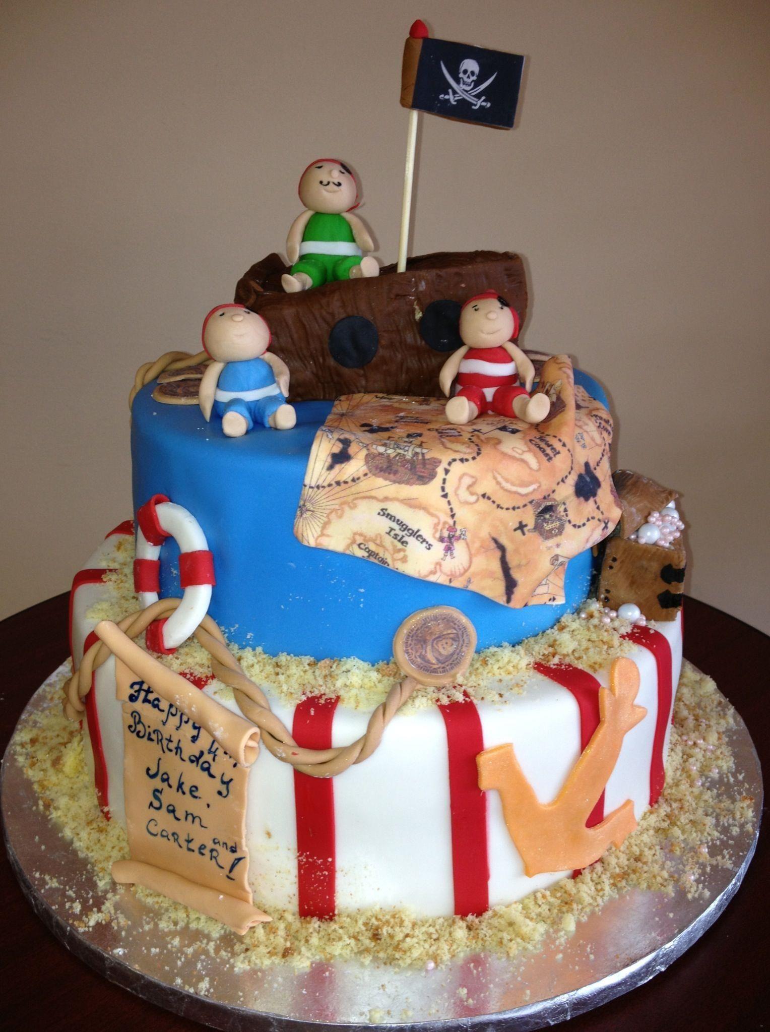 Pirate Birthday Cake By Roscoe Bakery Los Angeles CA Custom LA Cakes Like Funny Cute Nice Kids Party