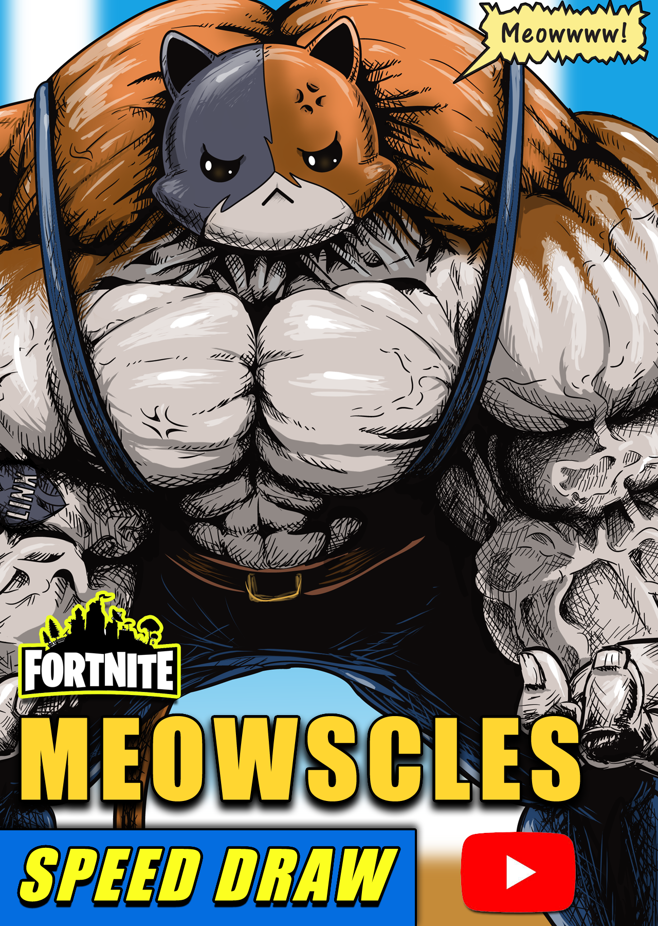 Fortnite Meowscles Speed Draw Speedpaint In 2020 Fortnite Im Poppy Draw