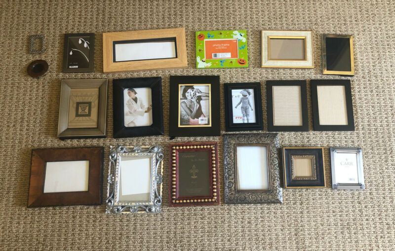 Lot Of 19 Beautiful Various Sizes Picture Frames Frames Ebay Link In 2020 Frame Picture Frames Pictures