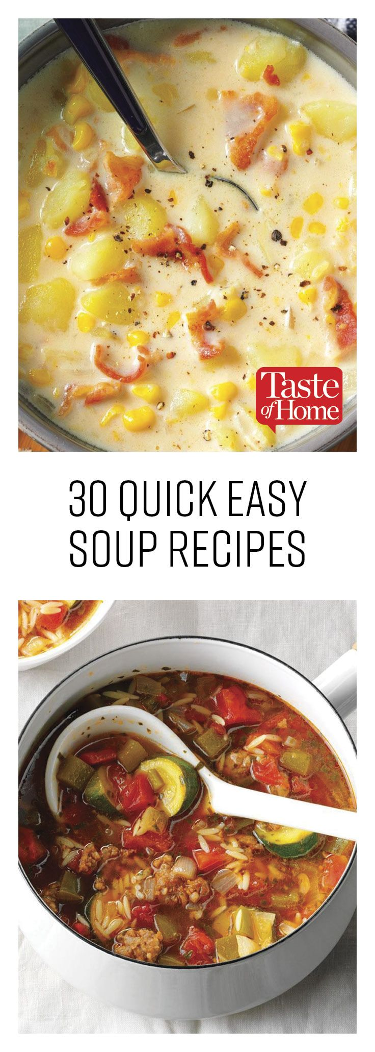 30 Easy Soup Recipes You Can Whip Up In a Flash images